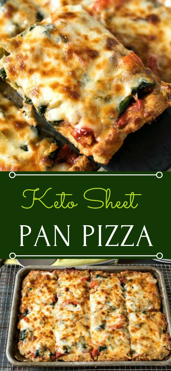 Keto Sheet Pan Pizza #dietketo #healthy #recipes #whole30 #pizza