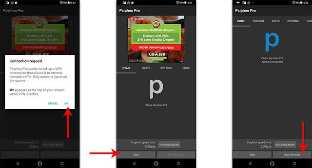 Cara Membuka Blokir Situs Dengan Psiphon Pro For Android