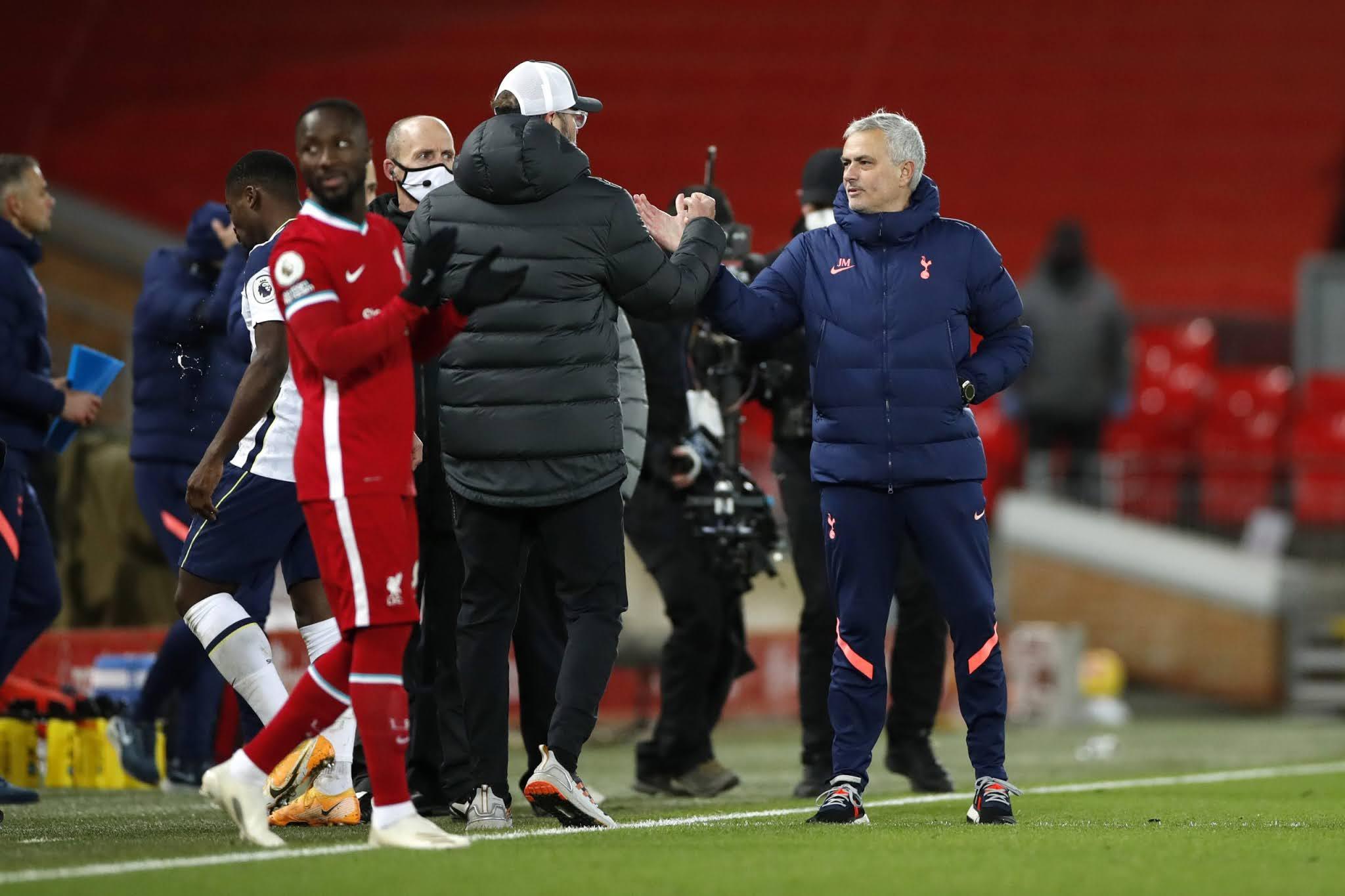 Jose Mourinho's Tottenham and Jurgen Klopp's Liverpool go toe-to-toe in the headline act on Thursday night