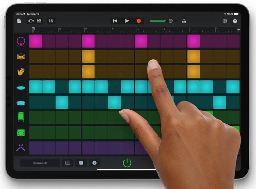 membuat musik band dengan sentuhan jari