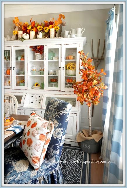 Farmhouse Cottage Style Fall Dining Room-DIY Decor-From My Front Porch To Yours