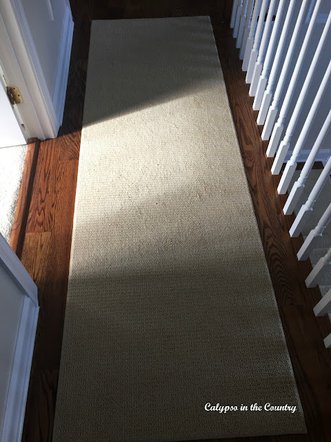 Synthetic Sisal Runner in upstairs hallway - matches stair runner