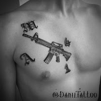m4 tattoo machinegun