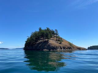 The north end of Spieden Island