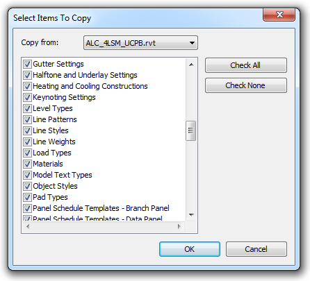 Revit Transfer Materials Families Symbols From One