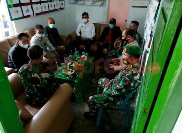 Hari Ke Tiga Binsat, Kolonel Teguh Wardoyo Sambangi Koramil 05/Permata