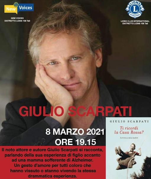 L'Alzheimer raccontato da Giulio Scarpati: interessante webinar di lunedì 8 marzo 2021 a cura delle New Voices del Distretto Lions 108 Ta3