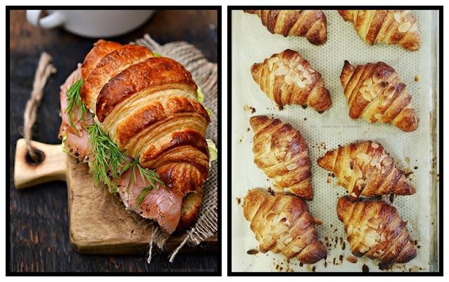 Śniadanie mistrzów i croissant z wędzonym łososiem:)
