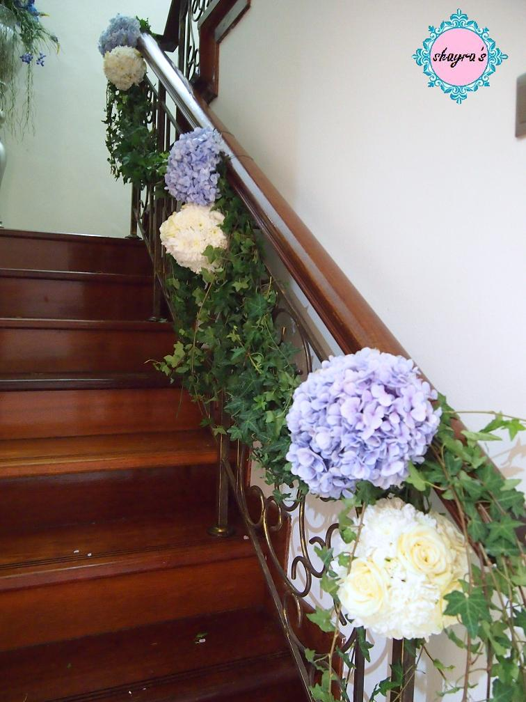 Floral Decor: Flora By Shayra: Fresh Flowers Staircase Decor