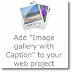 "Add ""Image gallery with Caption"" to your web project"