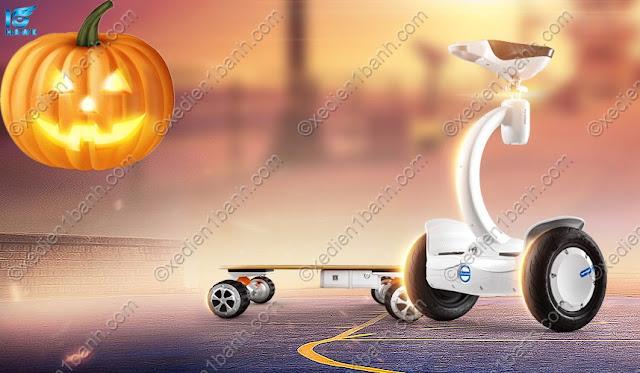 Halloween thêm thú vị cùng xe điện Scooter Airwheel tự cân bằng