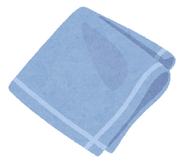 ハンカチのイラスト(青・白) | かわいいフリー素材集 いらすとや
