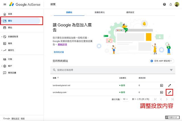 【網站經營】部落客別再癡癡等業配,趕緊用 Google AdSense 創造被動收入 - 使用者可以輕鬆透過 Google AdSense 控制網站廣告內容