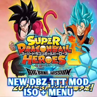 PSP New DBZ TTT Heroes MOD ISO With Menu