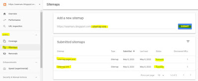 sitemap blogger google search console