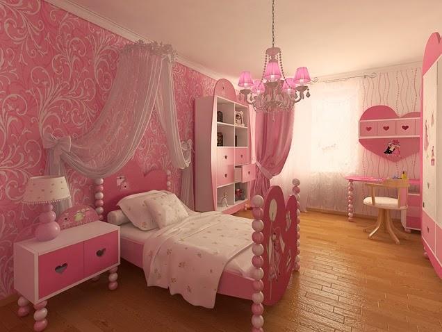 Dormitorio para ni as en color rosa dormitorios colores for Cuartos de ninas color rosa
