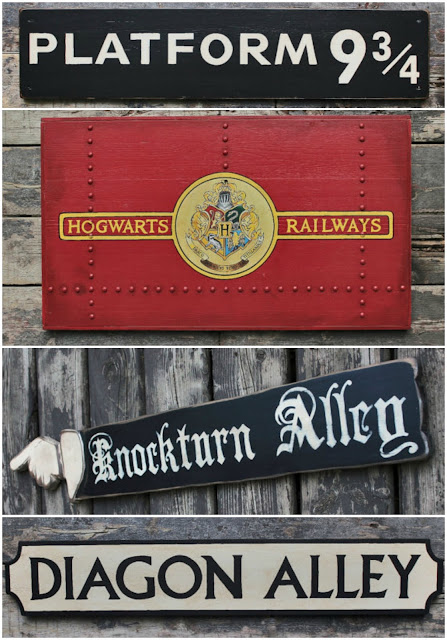 Handmade Harry Potter Signs