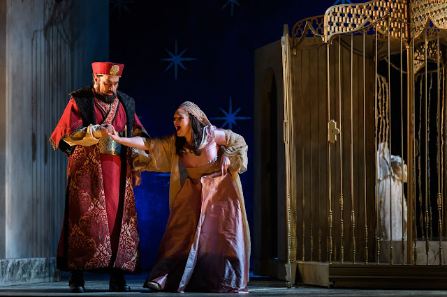 Mozart: The Seraglio - Alex Andreou, Lucy Hall - English Touring Opera 2019 (Photo Jane Hobson)