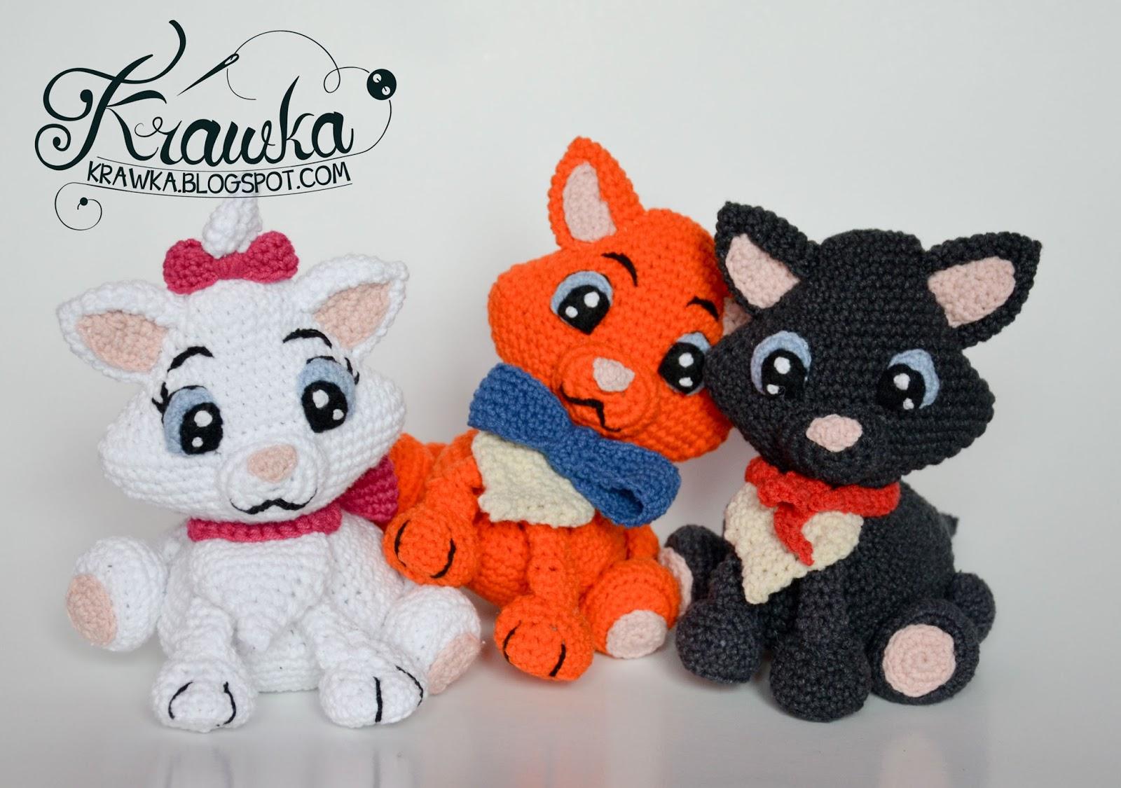 Free Amigurumi Disney Patterns : Krawka: aristocats marie belioz toulouse disney cats etsy pattern