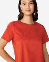 Camiseta suede Amaro