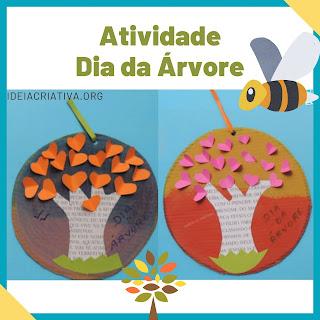 Atividade dia da árvore Educação Infantil de acordo com a BNCC