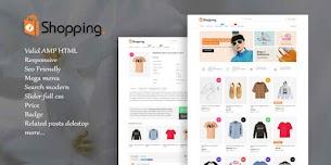 Modelo de Blogger responsivo para compras em AMP HTML v1.2