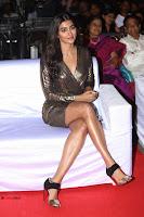 Pooja Hegde looks glamarous in deep neck sleevless short tight golden gown at Duvvada Jagannadham thank you meet function 042.JPG