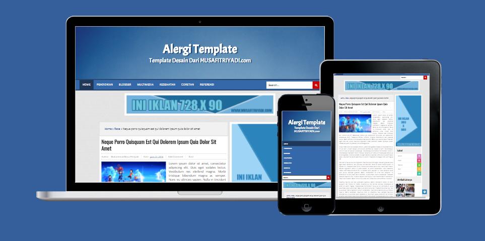 Alergi Template V.1 ( Free Template Blogger )