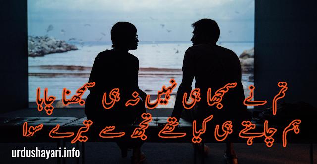 Tum ne Samjha hi nahi  na hi samjhna Chaha Feelings Shayari in urdu - 2 lines image poetry