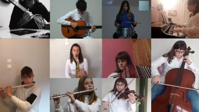 """""""Της Δικαιοσύνης Ήλιε Νοητέ"""": Μαθητές του Μουσικού Σχολείου Αργολίδας τίμησαν το Πολυτεχνείο (βίτεο)"""