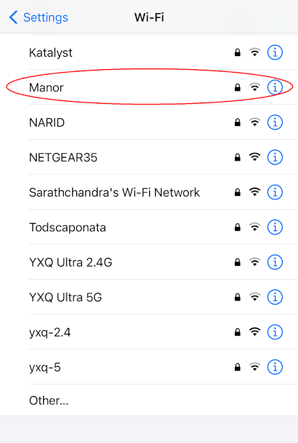 Network name: Manor