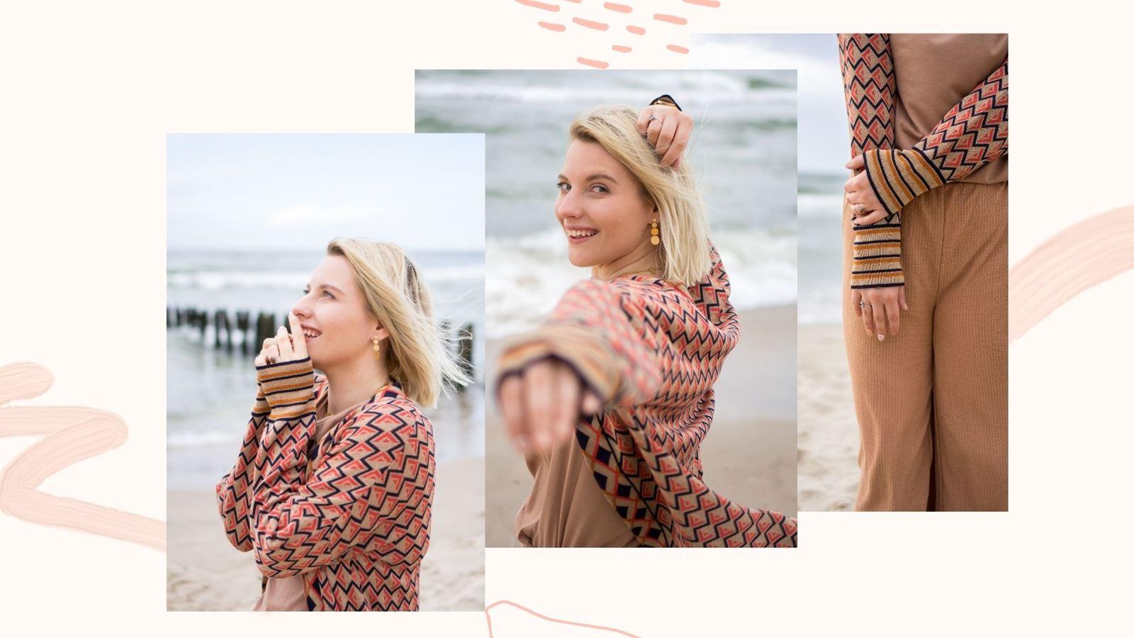 Bonprix opinie ceny jakość ubrania kardigan w azteckie wzory sweter bez zapięcia beżowe kuloty ubrania bez prasowania tanie tshirty basic na-kd lounge melodylaniella blog łódź lifestyle moda