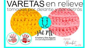 Cómo Tejer PUNTO ALTO EN RELIEVE 🧡 / Curso de Crochet para Principiantes Clase # 11