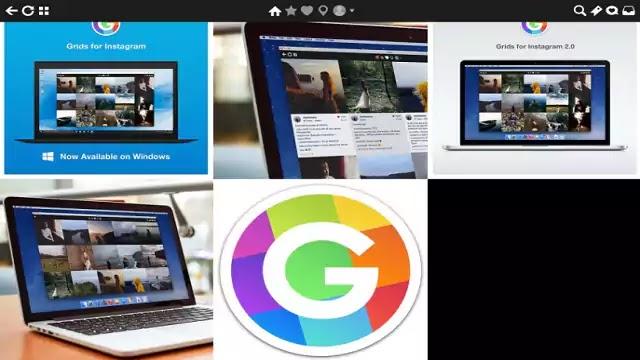 برنامج Grids app تشعيل انستغرام على حهاز حاسوب