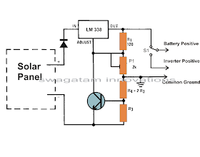 How Build Solar Charger Use Ic Lm317 furthermore Solar Panels Wiring Diagram further 5v Solar Cell Charging A 3 3v Battery While In Use Will The Circuit See 5v Inste additionally Lead Acid Battery Regulator For Solar in addition Battery Charger Articles Solar Power Chargers For Your 12v Batteries. on solar panel battery charging circuit