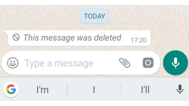Begini Cara Melihat Pesan Whatsapp yang Telah Dihapus