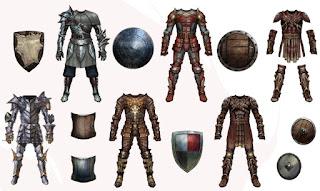 Tabela de Armaduras e Escudos D&D 3.5