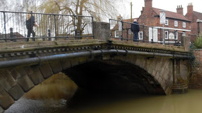 The County Bridge - completed in 1828 -  in Brigg town centre