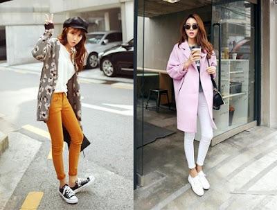 Mix trang phục với giày sneaker