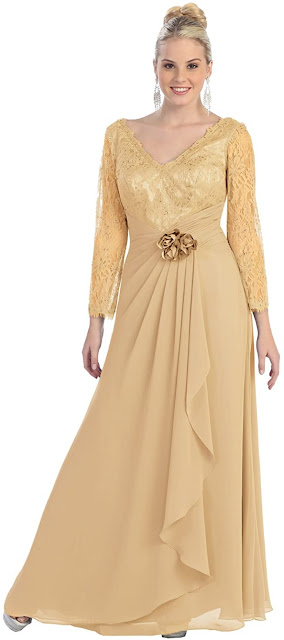 Charming Gold Mother of The Groom Dresses,