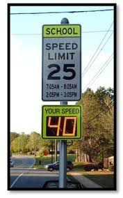 school speed limit radar sign