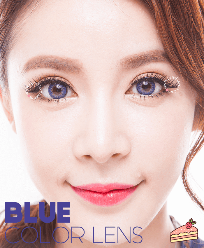geo tricolor blue colored contacts