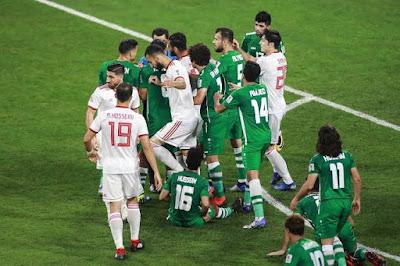 مباراة العراق وإيران مباشر