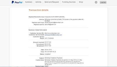 Bidvertiser single Payment Proof via Paypal