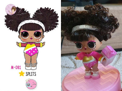 Splits #hairgoals lol surprise doll from wave 2 with real curls