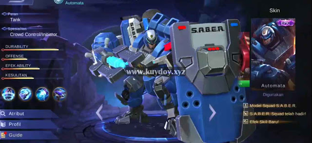 Script Skin Epic Johnson S.A.B.E.R Automata Patch Terbaru