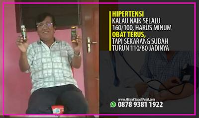 Testimoni Minyak Varash untuk Hipertensi
