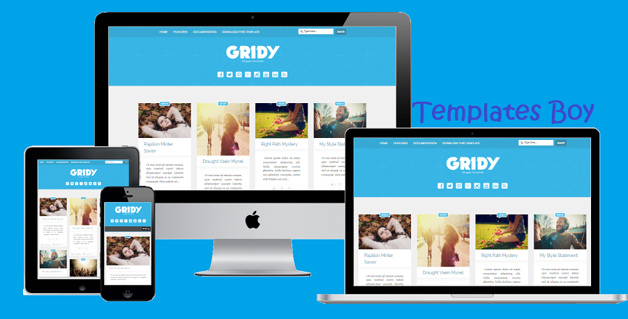 Gridy Premium Blogger Template Free Download