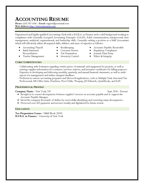 Cover Letter Examples For Chartered Accountant | Resume ...