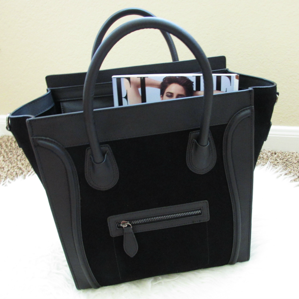 BAGINC Vanessa Large Tote Suede Leather Black Bag - REVIEW
